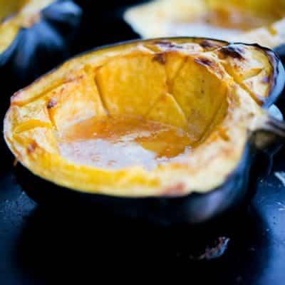 Amaretto Roasted Acorn Squash