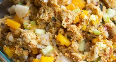 Butternut Squash & Asian Pear Cornbread Stuffing