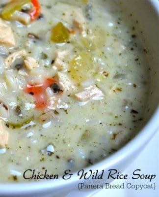 Chicken Wild Rice Soup (Panera Copycat)