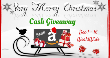 Very Merry Christmas Cash Giveaway
