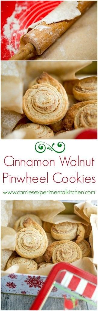 Cinnamon Walnut Pinwheel Cookies | CarriesExperimentalKitchen.com #FBCookieSwap