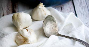 Creamy Roasted Garlic & Mushroom Soup
