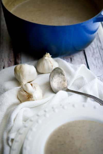Creamy Roasted Garlic & Mushroom Soup   CarriesExperimentalKitchen.com