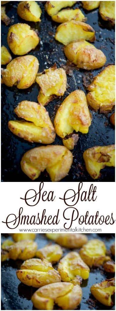 Sea Salt Smashed Potatoes | Sea Salt Smashed Potatoes are a simple side dish that dresses up any meal.