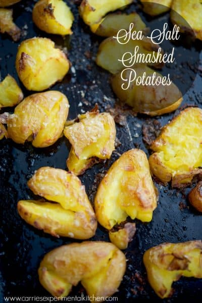 Sea Salt Smashed Potatoes