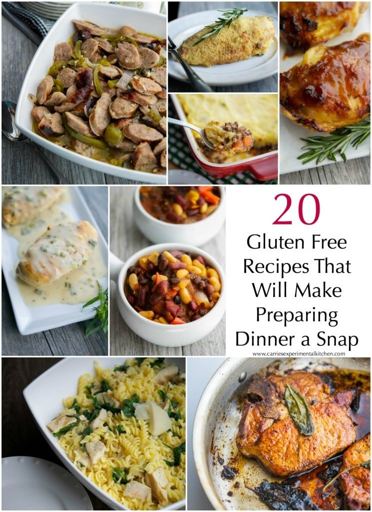 Do you follow a gluten free diet? Here are 20 gluten free recipes that will make preparing dinner a snap.