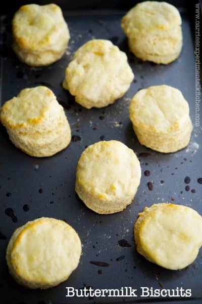 These flaky and buttery buttermilk biscuits are a must-have on your dinner table.