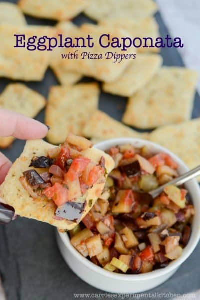 Eggplant Caponata with Pizza Dippers
