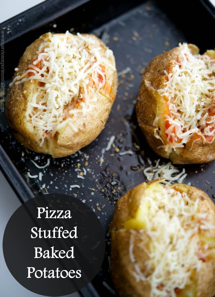 Pizza Stuffed Baked Potatoes - Carrie's Experimental Kitchen