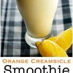 This Orange Creamsicle Smoothie is delicious and satisfying enough for breakfast or an afternoon snack.