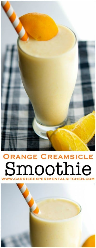 This Orange Creamsicle Smoothie made with fresh oranges, Greek yogurt and flaxseed is delicious and satisfying enough for breakfast or an afternoon snack.