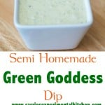 Semi Homemade Green Goddess Dip with crudite