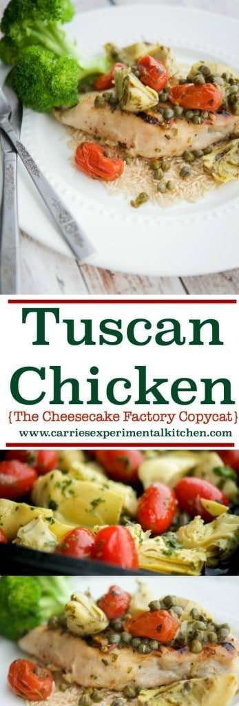 Tuscan Chicken The Cheesecake Factory Copycat