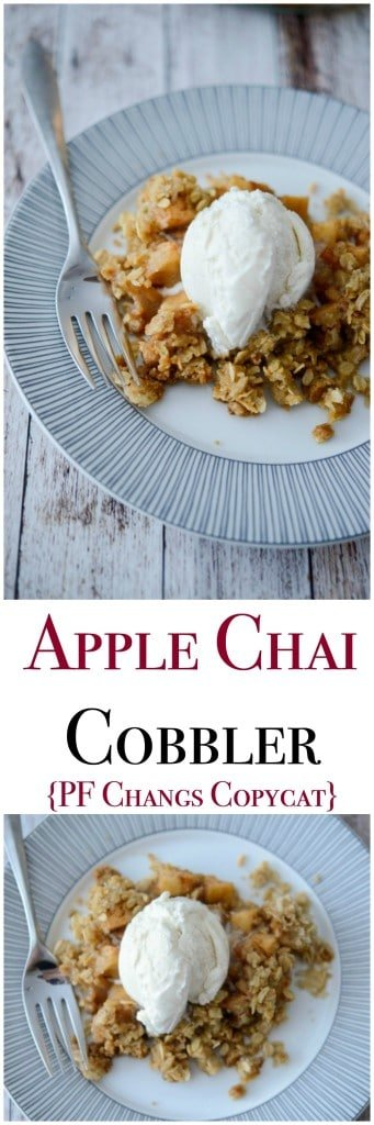 Make PF Changs newest dessert menu item, Apple Chai Cobbler at home.