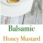 The combination of balsamic vinegar, honey, Dijon mustard and fresh rosemary make this Balsamic Honey Mustard Baked Chicken a must have in your dinner rotation.