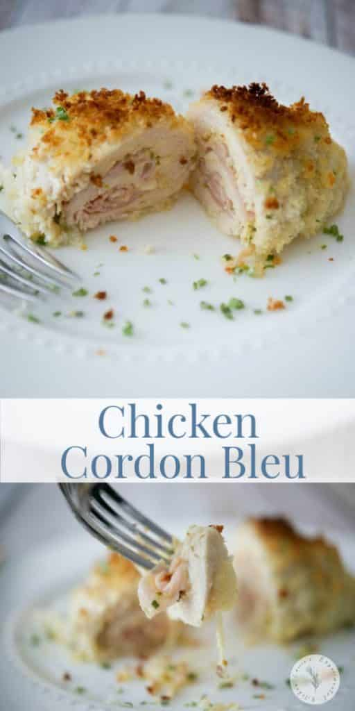 Chicken Cordon Bleu is an easily prepared meal consisting of tender chicken stuffed with ham and Swiss cheese; then baked until golden brown.