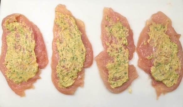 Chicken Cordon Bleu-mustard chives
