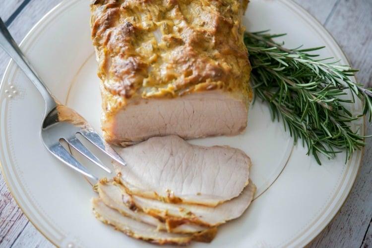 Dijon Rosemary Encrusted Pork Loin
