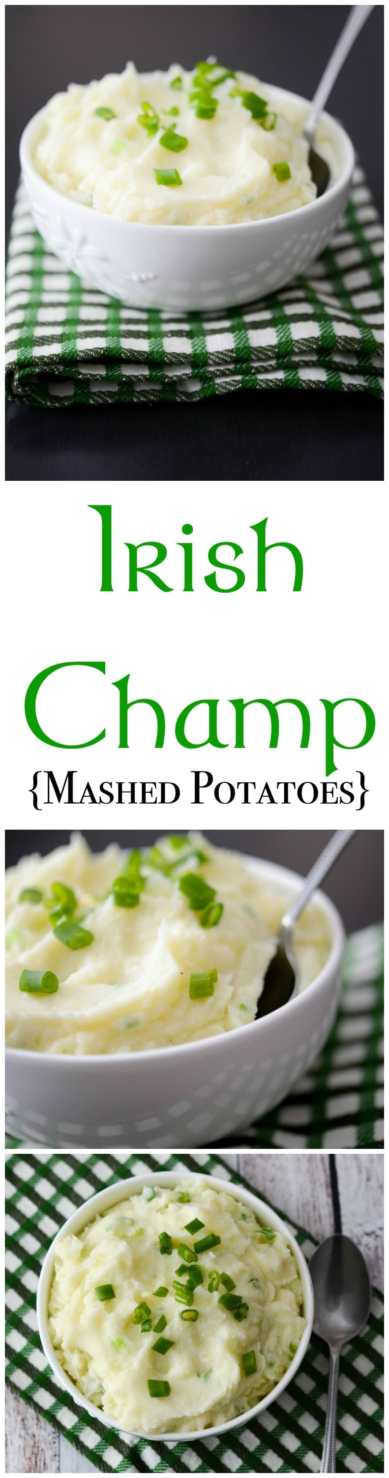Even if you're not of Irish decent, this recipe for Irish Champ made with russet potatoes, scallions, butter and milk is tasty and simple to make. #potatoes #irish #stpatricksday #mashedpotatoes #sidedish