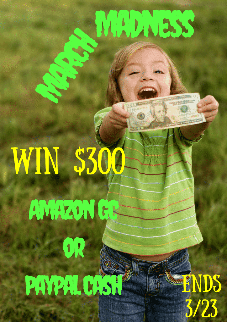 Enter to win $300 in the March Madness Giveaway. Entries valid March 9-23, 2016.