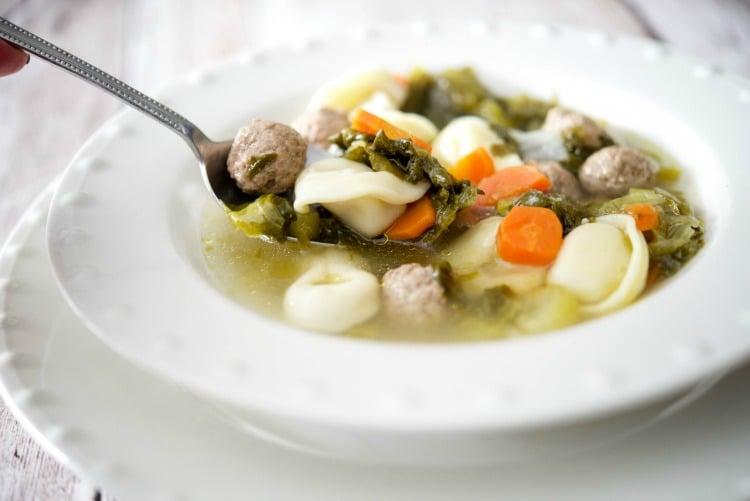 Tortellini Escarole Soup