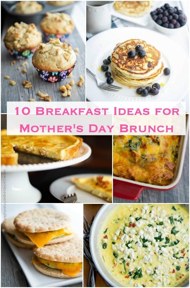 Celebrate Mom by making a home cooked meal. Here are 10 Breakfast Ideas for Mother's Day Brunch.