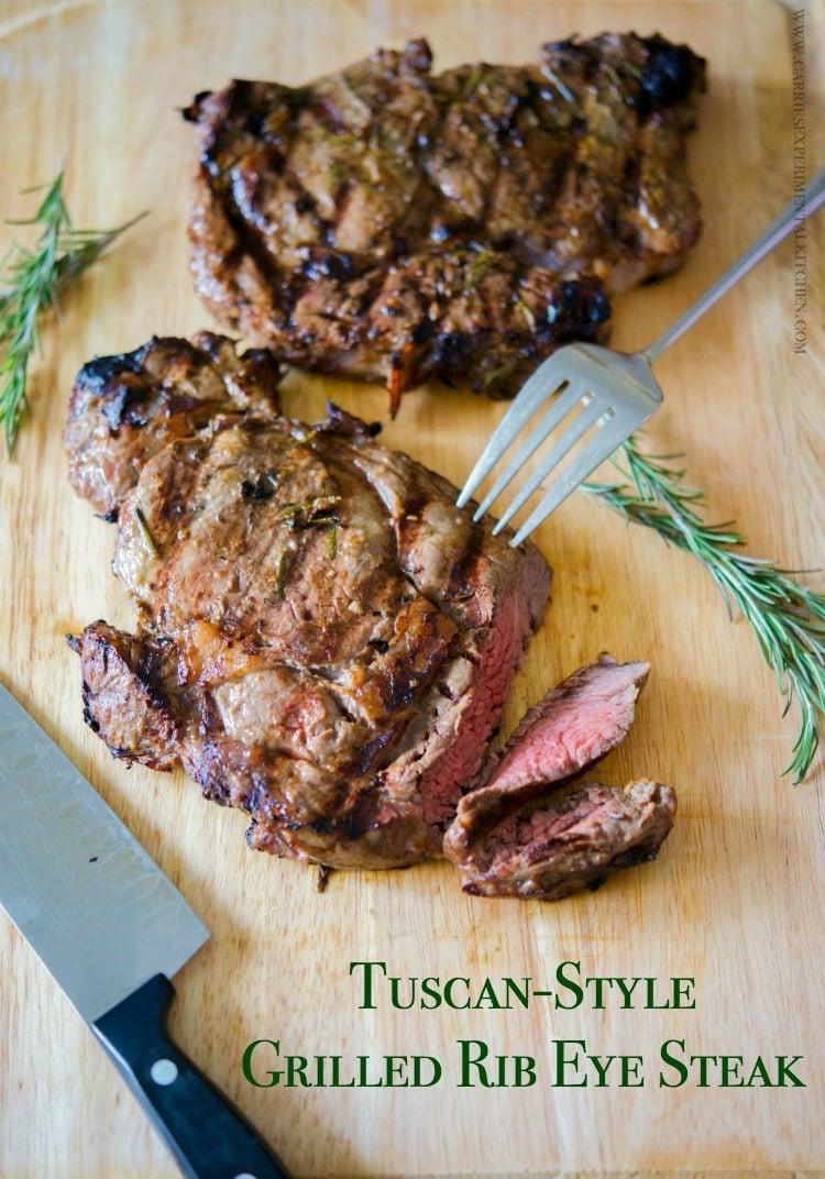 Tuscan Style Grilled Rib Eye Steak