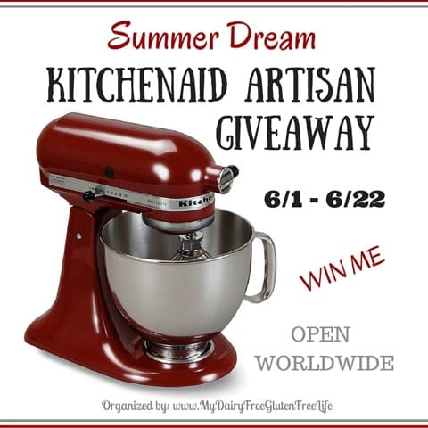 Enter for your chance to win a 5qt. KitchenAid Artisan Stand Mixer in the color of your choice in the Summer Dream Giveaway. Open Worldwide! #SummerDream
