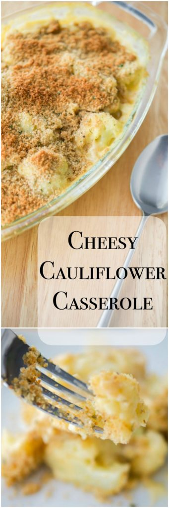 Steamed cauliflower combined with a sharp cheddar cheese sauce; then topped with buttery Italian breadcrumbs.