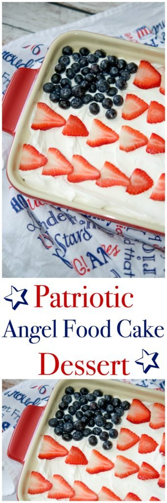 If baking is not your thing, but you still want to celebrate the holidays with something sweet this summer try this easy, Patriotic Angel Food Cake Dessert.