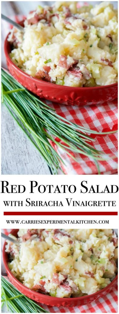 If you prefer 'no mayo' based salads in the summer, then you have to try this Red Potato Salad with Sriracha Vinaigrette.