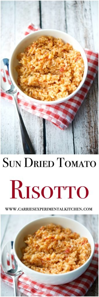Sun Dried Tomato Risotto is a creamy, rice side dish that makes the ...