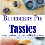 Blueberry Pie Tassies are a simple, small bite sized dessert, similar to a cream cheese cookie; then filled with your favorite pie filling.