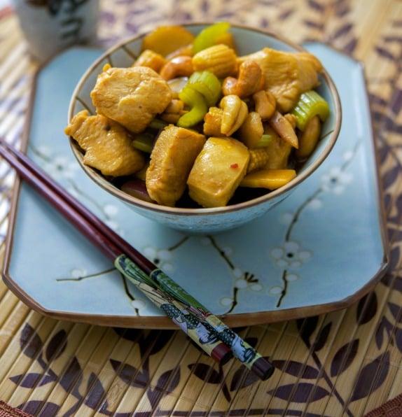 Cashew Chicken with Sesame Garlic Sauce