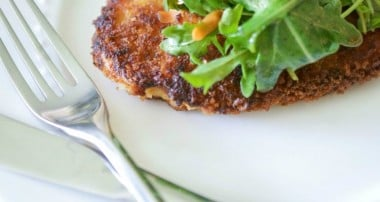 Honey Mustard Chicken Cutlets with Arugula Salad