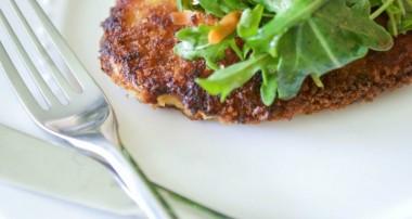 Honey Mustard Chicken Cutlets with Arugula Salad