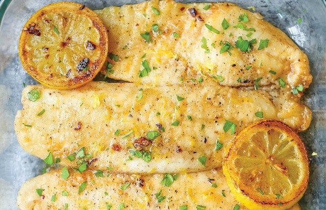 Baked Lemon Butter Tilapia (Damn Delicious)