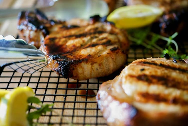 Greek Honey Lemon Grilled Pork Chops