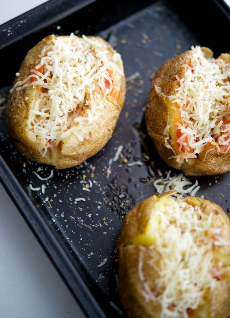 Pizza Stuffed Baked Potatoes