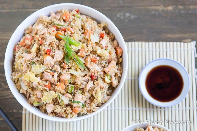 Salmon Quinoa Fried Rice (No Spoon Necessary)
