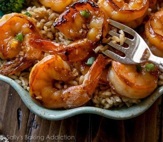 Honey Garlic Shrimp (Sally's Baking Addiction)