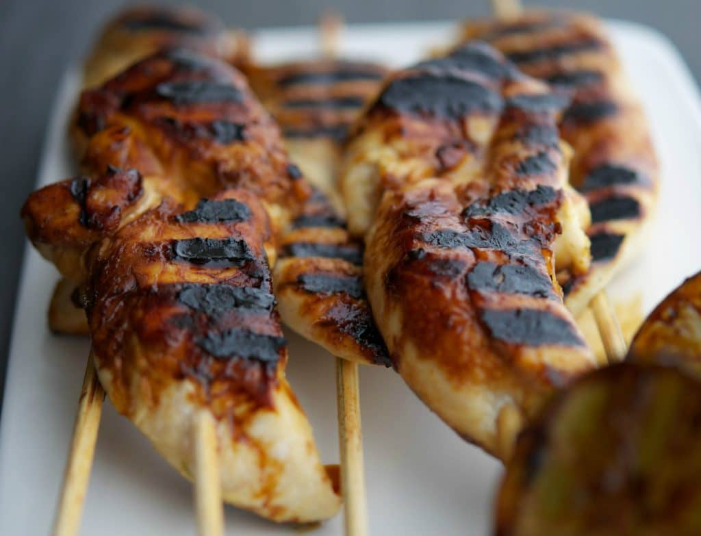 honey lime grilled chicken tenders-instagram
