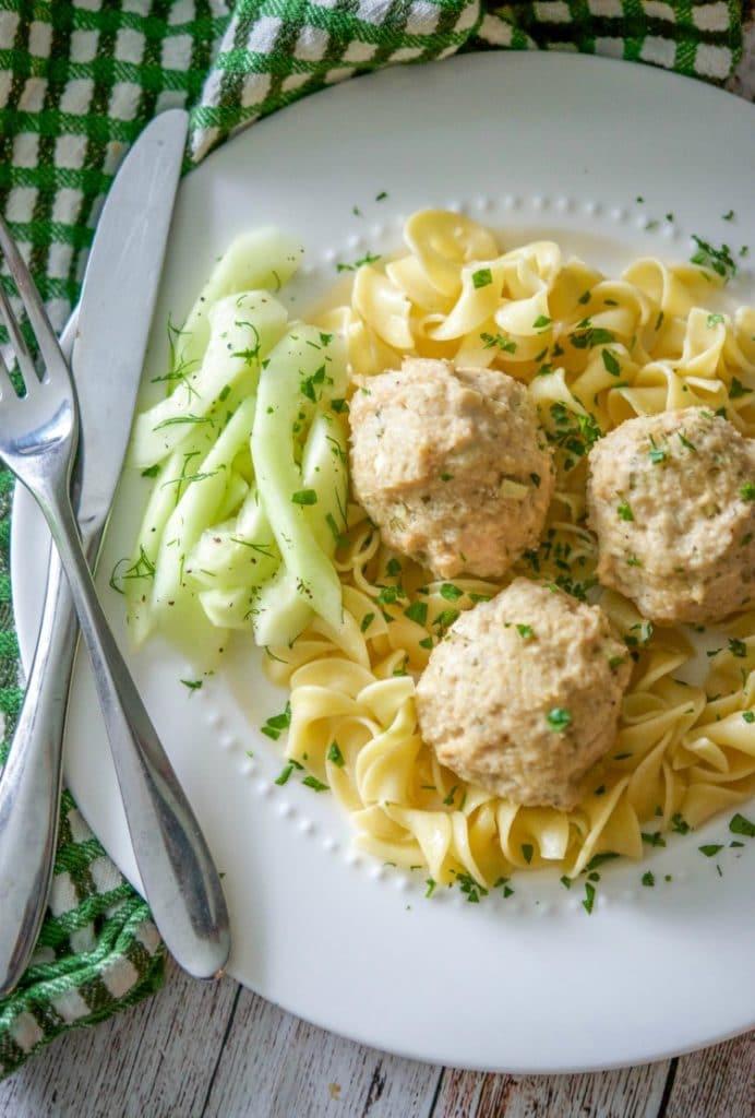 Baked Chicken Tzatziki Meatballs - Carrie's Experimental ...