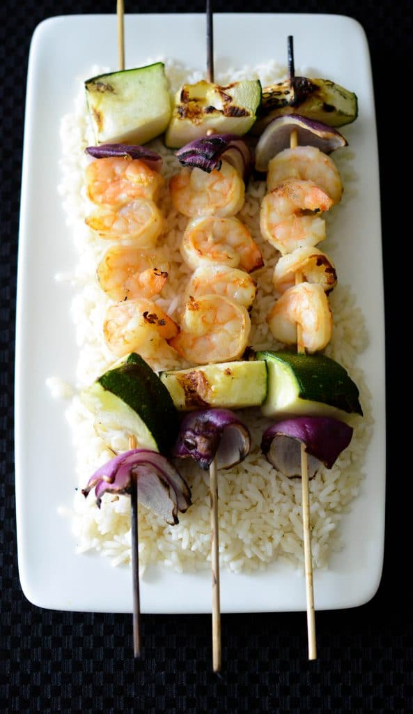 Dijon Maple Grilled Shrimp Skewers are marinated in maple syrup and ...
