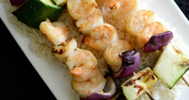 Dijon Maple Grilled Shrimp Skewers