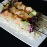 Dijon Maple Grilled Shrimp Skewers -horizontal
