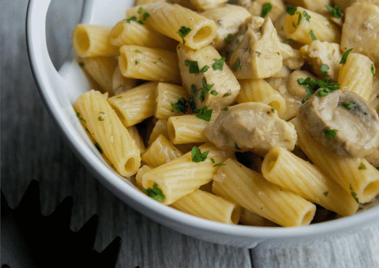 Low Fat Chicken Marsala Rigatoni