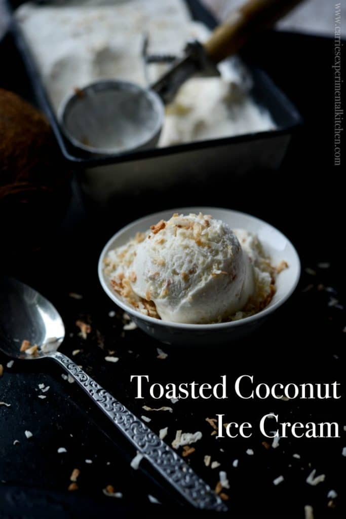 Toasted Coconut Ice Cream made with natural ingredients like coconut ...