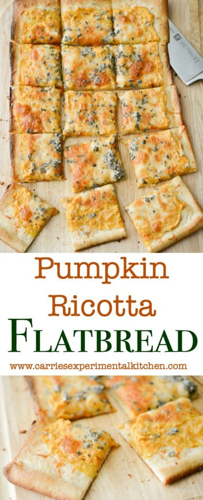 Pumpkin Ricotta Flatbread will become your new favorite Fall recipe. It's perfect for Friday pizza night or weekend game day snacking.