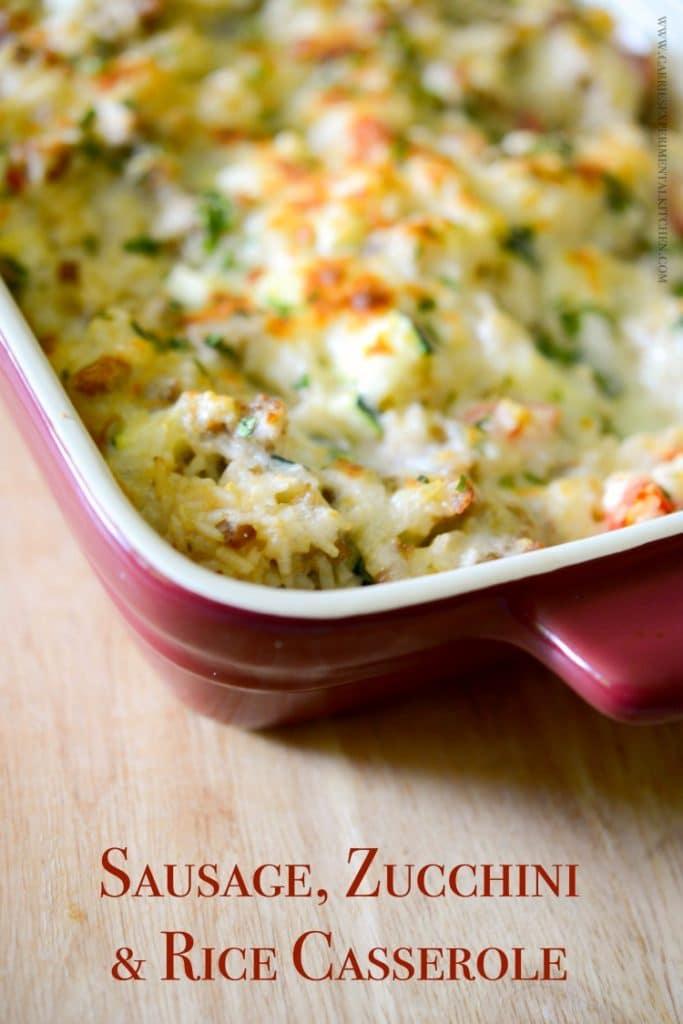 Sausage, Zucchini & Rice Casserole | www.carriesexperimentlkitchen.com